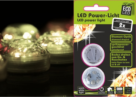 3-LED Power Licht 2er-Set