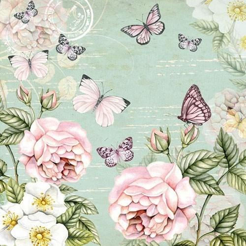 Serviette Botanical Green 33x33