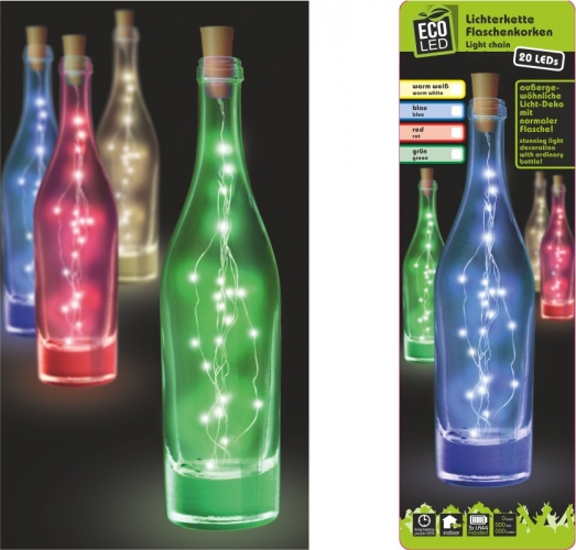 Lichterkette Flaschenkorken 20 LED